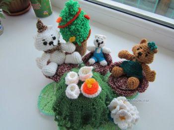 Вязаные игрушки – работы Ольги Фроловой. Вязание крючком.
