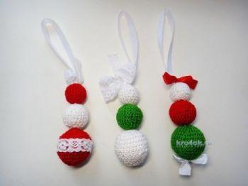 Новогодние игрушки на елку - работы Екатерины