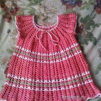 Детское платье крючком — работа Ольги