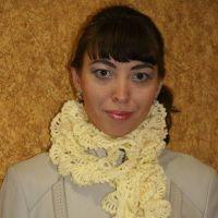 Ажурный шарфик Осенины — работа Елены
