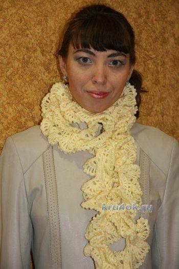 Ажурный шарфик Осенины - работа Елены