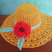 Летняя шляпа крючком — работа Валентины