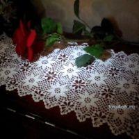 Вязаные крючком салфетки — работы Альбины Петровны