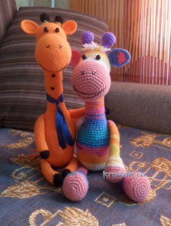 Вязаные игрушки – работы Виктории. Вязание крючком.