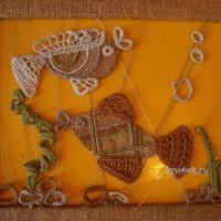 Панно Рыбки (вязание крючком, аппликация) — работа Елены