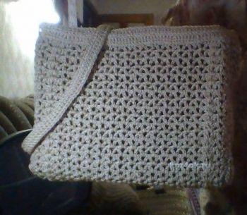 Вязаная крючком сумка — работа Альбины Петровны. Вязание крючком.