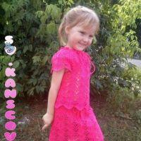 Детская юбочка крючком — работа Ланы Кансковой