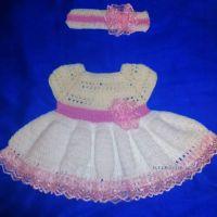 Платье и ободок для девочки — работа Аси