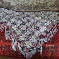 Вязаные шали — работы Ирины