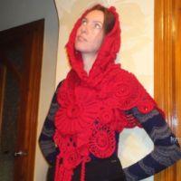 Вязаный шарф — работа Светланы