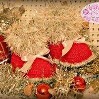 Новогодние пинетки — работы Екатерины