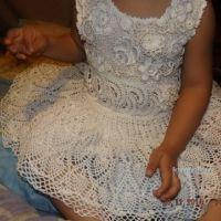 Детское платье крючком – работа Оксаны