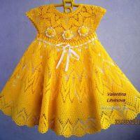 Детское платье Солнышко — работа Валентины Литвиновой