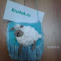 Сумочка Новогодняя овечка — работа Ольги