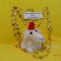 Вязаная крючком овечка — работа Курносовой Екатерины
