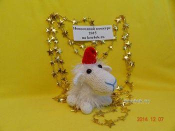 Вязаная крючком овечка — работа Курносовой Екатерины. Вязание крючком.