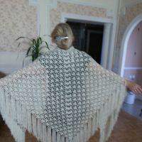 Вязаные крючком шали — работы Людмилы