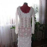 Свадебное платье крючком — работа Валентины