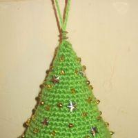Вязаная крючком елка — МК от Елены