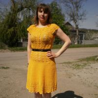 Платья крючком — работы Ирины Стильник