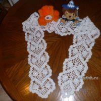 Ажурный шарфик крючком — работа Риты
