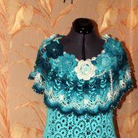 Вязаное платье «Новогодний иней» — работа Ирины Кангаш