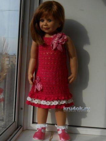 Детские платья крючком — работы Татьяны Султановой