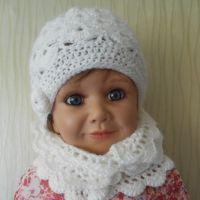 Детский комплект шапочка и шарфик  — работы Татьяны Султановой