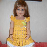 Желтое платье для девочки — работа Татьяны Султановой