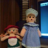 Вязаные куклы — работы Валентины