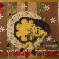 Новогодние открытки — работы Елены Зубаревой