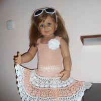 Детское платье крючком — работа Татьяны Султановой