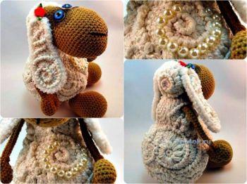 Вязаная крючком овечка – работа Исаковой Натальи. Вязание крючком.