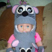 Детские зверокомплекты — работы Вероники