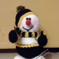Вязаный крючком снеговик — работа Инны