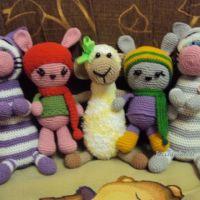 Вязаные крючком игрушки — работы Снежанны