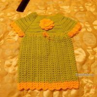 Детское платье крючком — работа Наталии