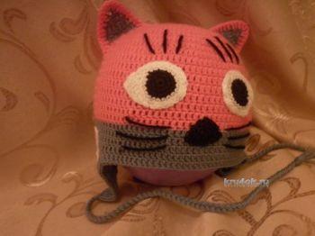Детские шапки - кошки крючком