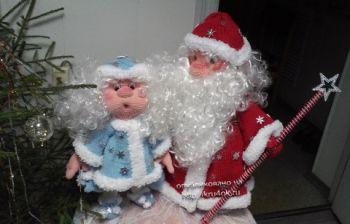 Дед мороз и снегурочка – работы Евгении. Вязание крючком.