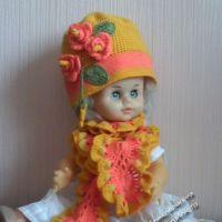Шапочка и шарфик — работы Ирины