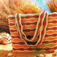 Вязаная летняя сумка