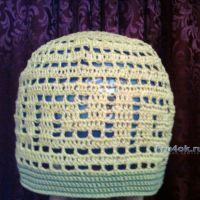 Летняя шапочка крючком — работа Ольги