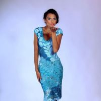 Вязаное крючком платье — работа Юлии Тушницкой