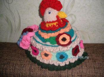 Грелка на чайник – работа Татьяны Андреевны. Вязание крючком.