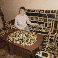 Комплект из кусочков кожи и замши — работа Анжелы