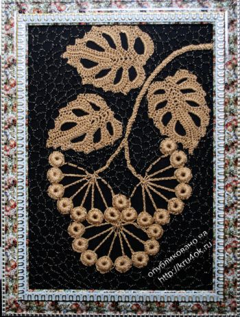 Картина крючком – работа Ефимии Андреевских. Вязание крючком.