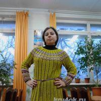 Вязаное крючком платье — работа Надежды Угловой