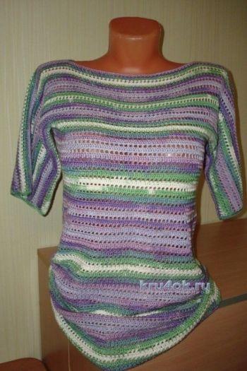 Схемы вязания летних кофточек