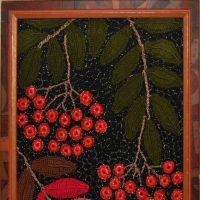 Вязаная крючком картина Рябина — работа Ефимии Андреевских