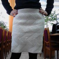 Теплая юбка крючком — работа Надежды Угловой